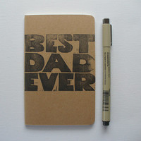 moleskine notebook - best dad ever fathers day gift minimalist modern