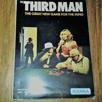 Vintage 1968 The Third Man Board Game By Hansa / Very Rare Game/ Complete Game / The Great New Game For the Mind / Retro Strategy Game