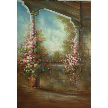 Rococo style floral post background  vinyl cloth backdrops for art portrait photo studio photography backgrounds CM-2227