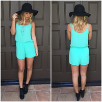 High Standard Romper - Mint