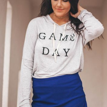Game Day Heather Grey Hoodie