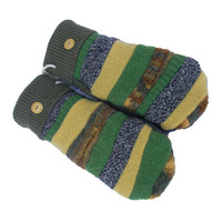 Upcycled Wool Mittens - SWEATY MITTS Green Bay Packers Gold Gray Black Women's Handmade in Wisconsin Patchwork Fleece Lined Recycled