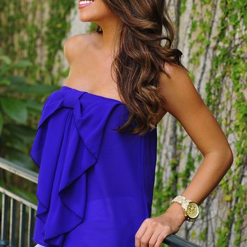 Party In The Front Top: Purple | Hope's