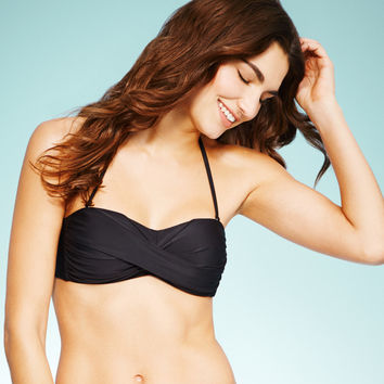 LLD Solid Twist-Front Bandeau Top