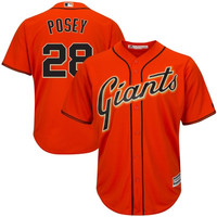 Buster Posey San Francisco Giants Majestic Cool Base Authentic Collection Player Jersey – Orange