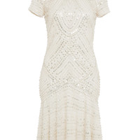 Metallic Beaded Cocktail Dress | Moda Operandi