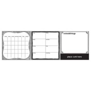 Wall Pops! ® Dry Erase Calendar Decal Set - Black/White