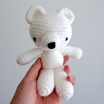 Crochet Polar Bear, Amigurumi Bear, Crochet Bear, Plush Polar Bear, Stuffed Polar Bear, Polar Bear Soft Toy, White Bear, Cute Toy, Cute Gift