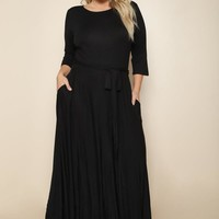 Forever + Always Plus Size Maxi Dress Dresses+ GS-LOVE