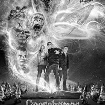 Goosebumps Poster Standup 4inx6in black and white