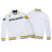 1996-97 Authentic Warm Up Jacket Golden State Warriors White