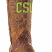 Gameday Colorado State Mens Leather Boots - Brass