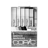 Copic® Sketch Marker Set, Sketching Grays