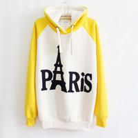 English Tower spell color hooded sweater