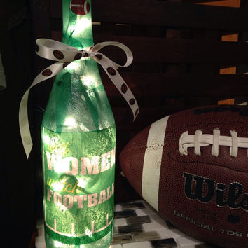 Real Women Watch Football wine bottle lamp, bottle light