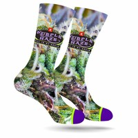 PURPLE HAZE WEED MARIJUANA STONER SOCKS