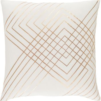 Crescent Throw Pillow Neutral, Brown