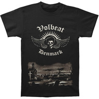 Volbeat Men's  Graveyard T-shirt Black Rockabilia