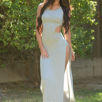 Show Your Curves Maxi Dress - Grey