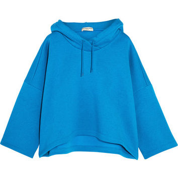 Balenciaga - Wool-jersey hooded top