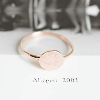 SMJEL New Simple Brushed Matte Round Rings For Women Geometric Thin Circle Ring Party Jewelry Birthday Gift Anel Mujer R082