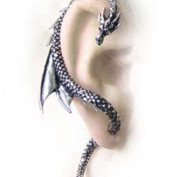 Alchemy Gothic Earring - The Dragon's Lure (Single Stud - Right Ear Only) - Buy Online at Grindstore.com