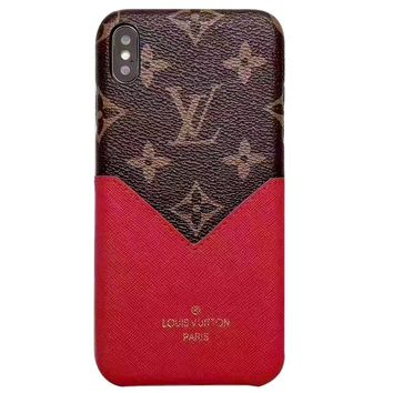 Free Shipping-LV classic old flower color matching IPHONE XS/XR mobile phone case