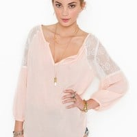Jardin Lace Blouse - Blush in  Clothes at Nasty Gal