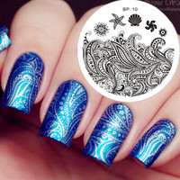 $2.99 Starfish & Shell Theme Nail Art Stamp Template Image Plate BORN PRETTY 10 - BornPrettyStore.com