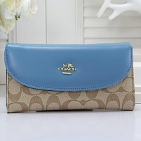 COACH Women Fashion Leather Purse Wallet