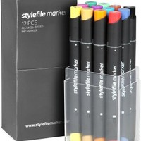 Stylefile Grafikmarker 12er Set A