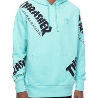 HUF x Thrasher TDS Allover Mint Hoodie