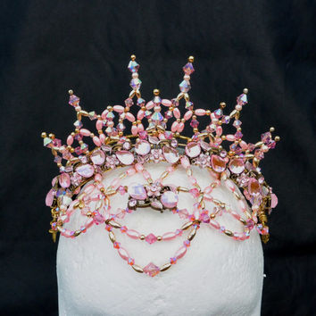 Professional Ballet Headpiece, Crystal & bead Crown. Sugar Plum Fairy Crown.
