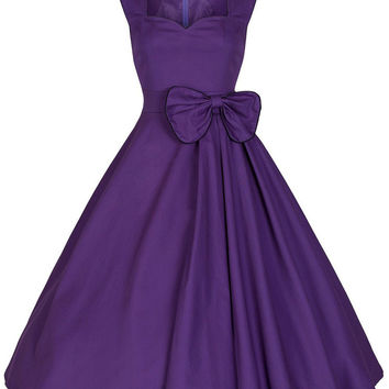 Sleeveless Waist Bow Back Zipper A-Line Midi Dress