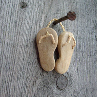 Wooden elf's slippers miniature native wall art by plad on Etsy