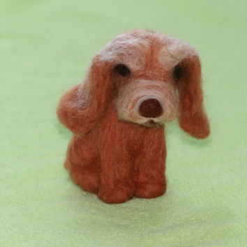 Needle felted dog /miniature dog felt / Dog Portrait /