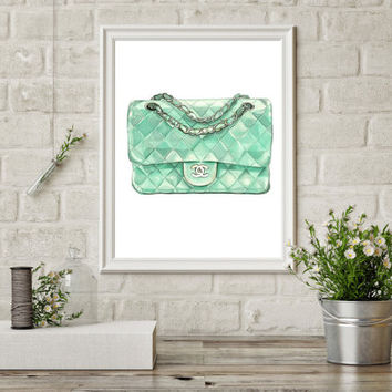 COCO chanel bag print, printable art, coco chanel bag poster, chanel art, coco print, chanel art, instant download