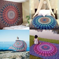 Wall Tapestries   Indian Mandala Tapestry Hippie Home Decorative