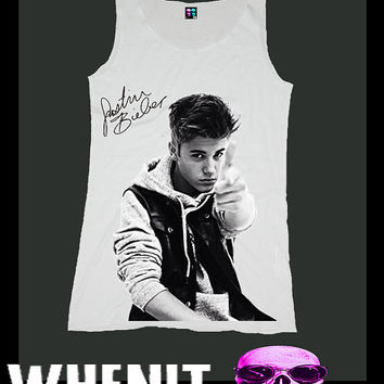worldwide shipping just 7 days JUSTIN BIEBER shirt singlet tank top 10244