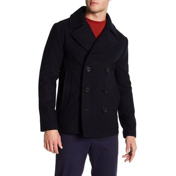 Slate & Stone Men's Brandon Wool Blend Peacoat