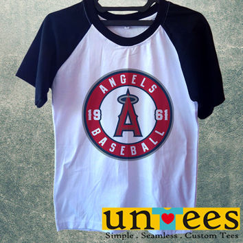 Los Angeles Angels Logo Short Raglan Sleeves T-shirt