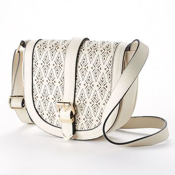 Apt. 9 Margo Laser-Cut Crossbody Bag