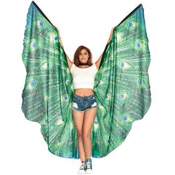 Peacock Feather Halter Wing Ca