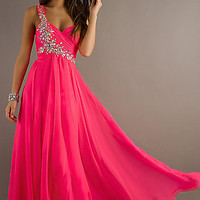 One Shoulder Dress with Sweetheart Neckline