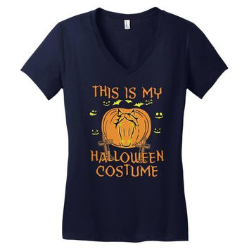 this is my halloween costume Women's V-Neck T-Shirt