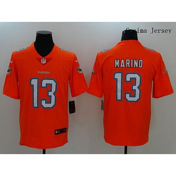 Danny Online Nike NFL Jersey Men's Vapor Untouchable Color Rush Miami Dolphins #13 Dan Marino Football Jerseys Orange