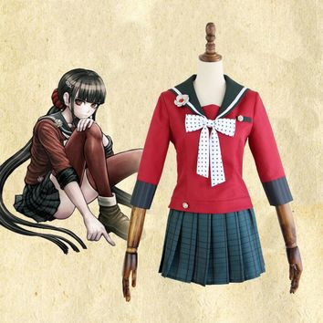 New Danganronpa V3 Harukawa Maki  Cosplay Costume Japanese Game Uniform Suit Outfit Clothes Top skirts bow tie stockings