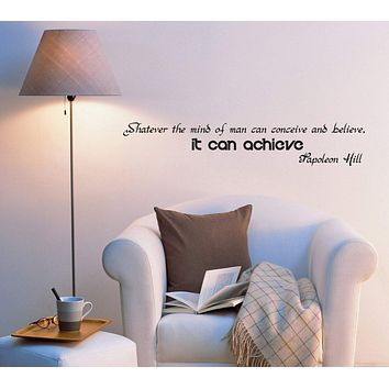 Wall Decal Office Inspiring Quotes Mind Mirror Letters Vinyl Sticker (ed951) (22.5 in X 4 in)