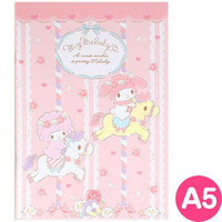 Mai melody A5 notebook merry-go-round ☆ Sanrio cute stationery series ★ black cat DM service is possible