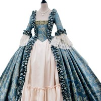 Custom Made  Victorian Fancy Masquerade Dresses Brocade Wedding Party Prom Gown Rococo Vintage Palace Garden Prom Dres